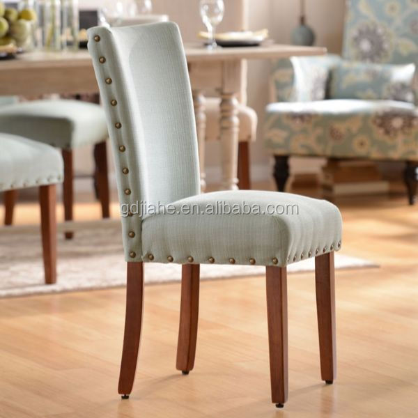 fabric white nailheads chairs modern dining room furniture