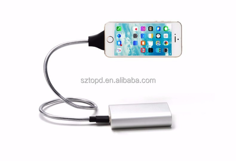 Lazy Bracket Palms Shape folding metal hose Charging Cable Stand Up Phone Data Cable & Coiled Holder in One for Android