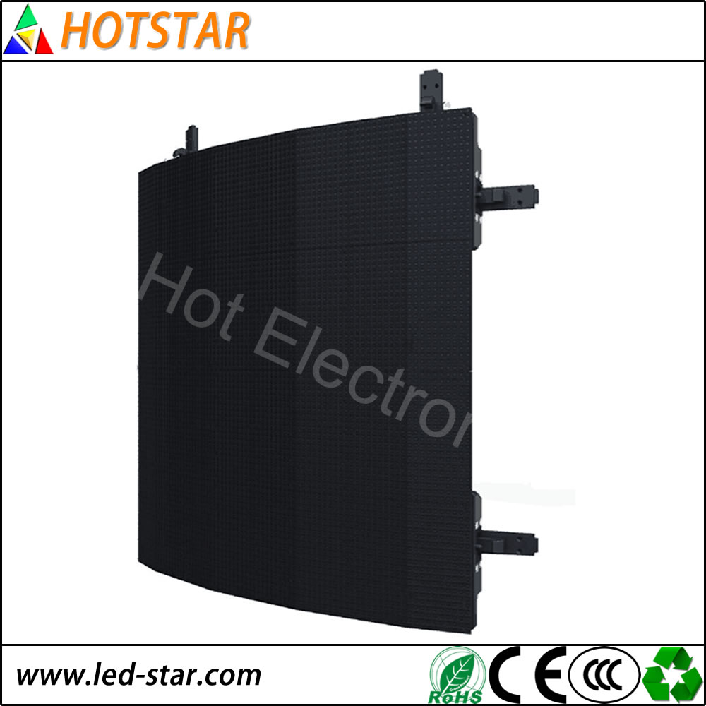 hot product hd video wall DIP full color arc led display p5