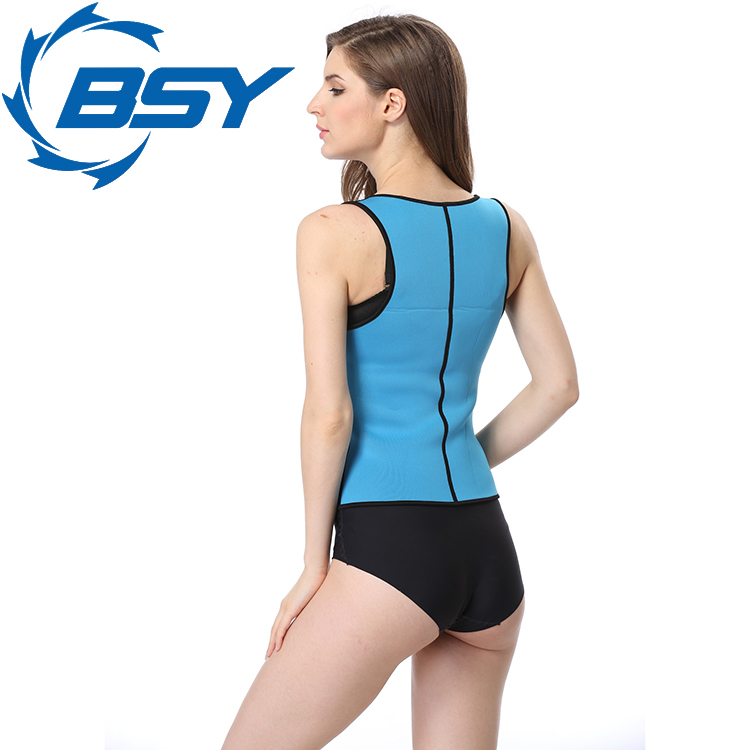 Brand New Blue Shapewear Rubber Slimming Reversible Leotard Bodysuit for Lady
