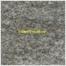 wool polyester acrylic blended grey melange colour boiled wool knit fabric for overcoat