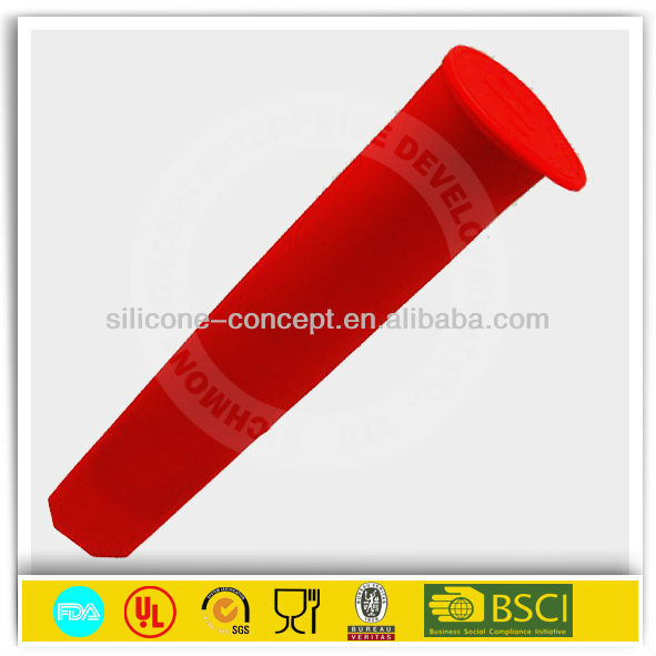 cone shape silicone ice pop mold for kids