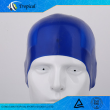 Well designed durable silicone comfortable adult funny swimming cap