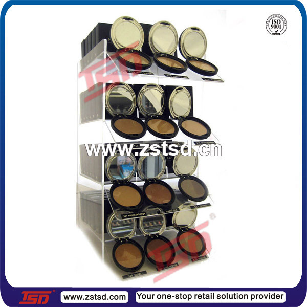 TSD-A534 Acrylic cosmetic store display, cosmetic display cabinet and showcase,customized counter top cosmetic display showcase