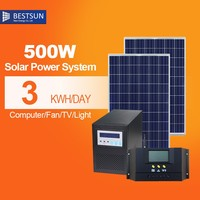 500W solar panel Mini AC 110V /220V portable solar generator system 500watt SP500A for home/outdoor use