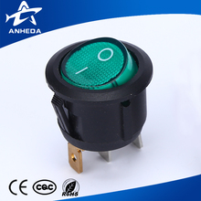 best selling 3pin lighted round rocker switch t85