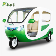 Big capacity automatic tuktuk three wheeler rickshaw solar electric tricycle for Passenger