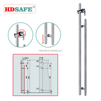 Stainless steel European design handle pull lock for glass swing door, glass sliding door