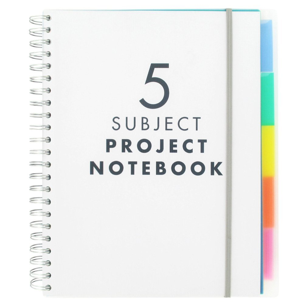 Custom Colored Pages Hardcover 5 Subject Spiral Notebook - Buy ...