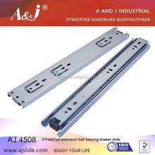 A&J New design 45mm quiet moving furniture drawer guides
