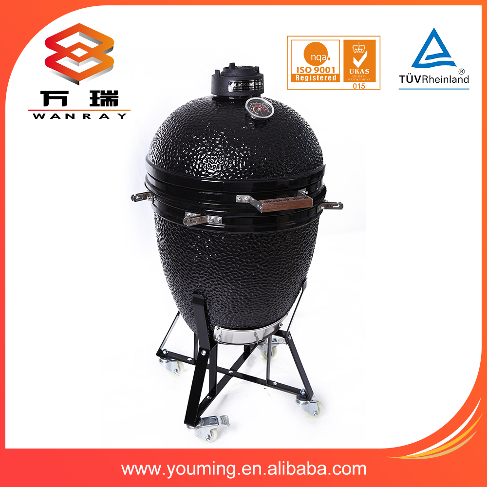 "Newest 21.5 ""kamado ceramic grill with carts"