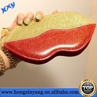 Lip leather pouch for mobile phone smaller than 5.1 inch universal case