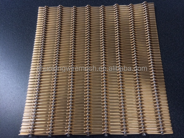 Hebei Shuolong BV Certificated Manufactory & Exporter architectural bronze decorative wire mesh XY-M2175T
