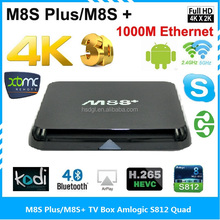 Best price M8S Plus M8S+ 4K 2K H.265 OTT TV box with 1000M Gigabit Ethernet dual band wifI Android tv box 5.1 internet TV player