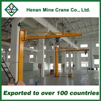Workshop use swivel jib crane