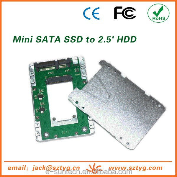 Aluminum SSD Case mSATA SSD To SATA 1.8' hdd to 2.5 adapter Competitive Price OEM Solid State Drive Adapter