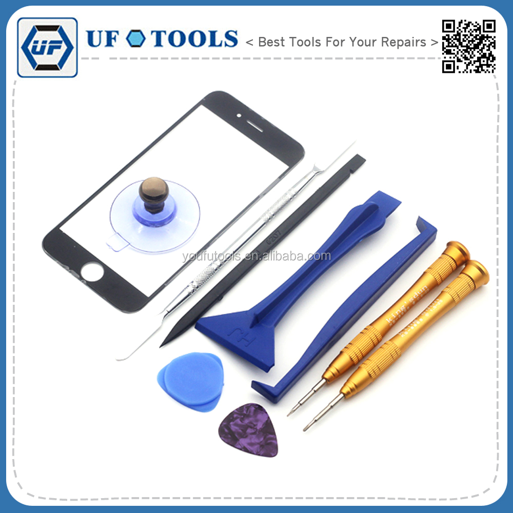High Quality 10in1 Front Outer Screen Glass Lens Replacement Opening Screwdriver Tool Kit for Apple iPhone 6 6s