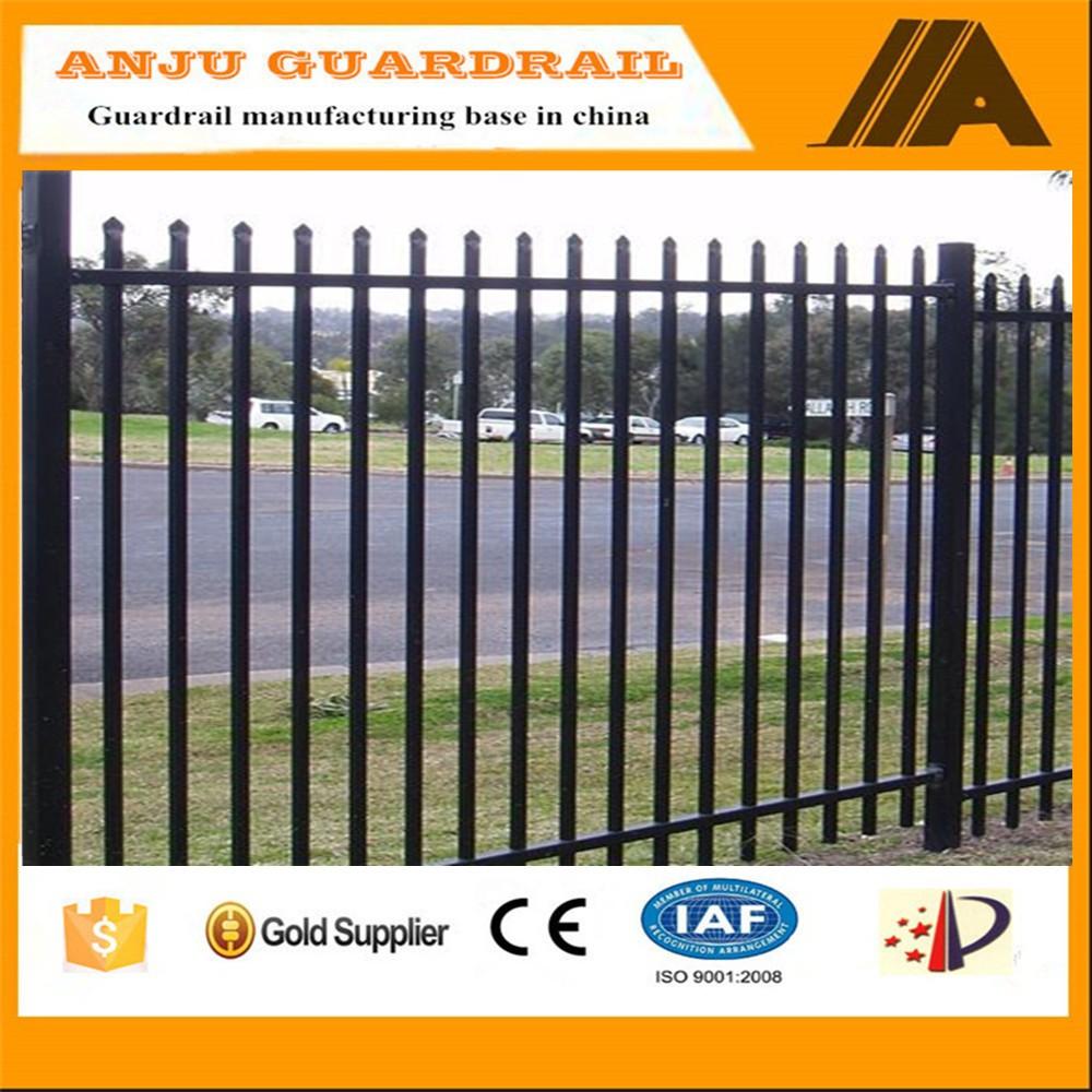 European Design Black Villa Outside Gate Flowers Carving: Steel Fence-006 Crazy Selling Pvc Panels Welded Cattle