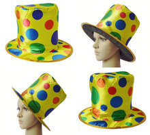 PGH2168 Wholesale Halloween Colored Polka Dot Clown Magician Hat Party Performance Props Acrobatic Costumes Hat