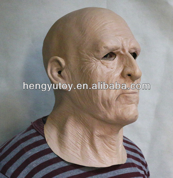 Latex Realistic Disguise Fancy Dress Life Like Old Man Mask
