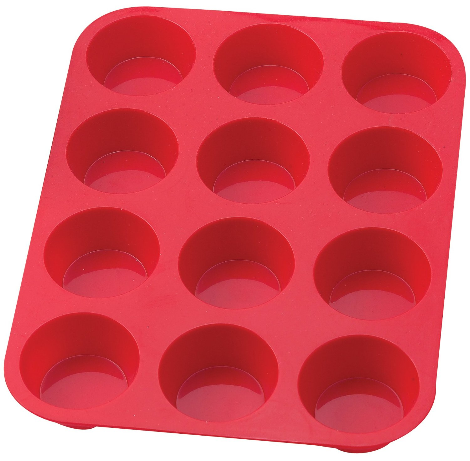 Cook Essentials 12cups Silicone Muffin Pan & Bakeware & Baking Pan