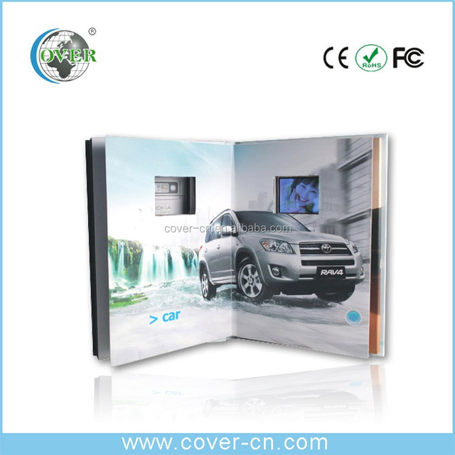 LCD Graphic Video Business Card/video paper frame/ touch screen video brochure