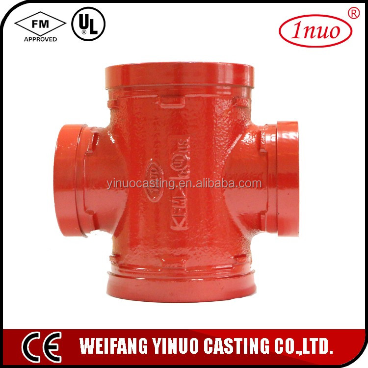 Chinese cast iron grooved universal joint cross