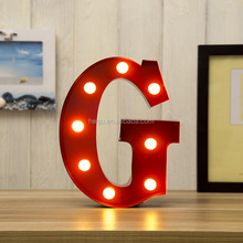 Good quality led Luminous characters letter light ,decoration metal letter with led bulb