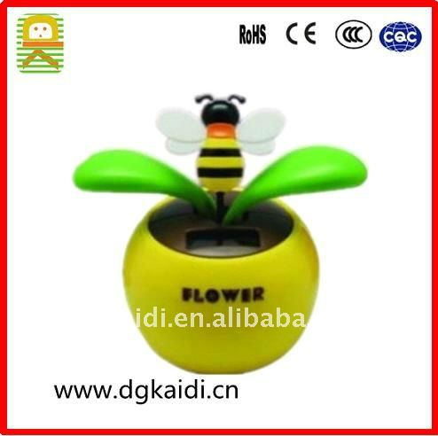 Beautiful car adornment solar dancing flower