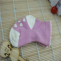 Factory Custom High quality 0-3years old baby socks,dotted heart pink color style ,white thick in the bottom