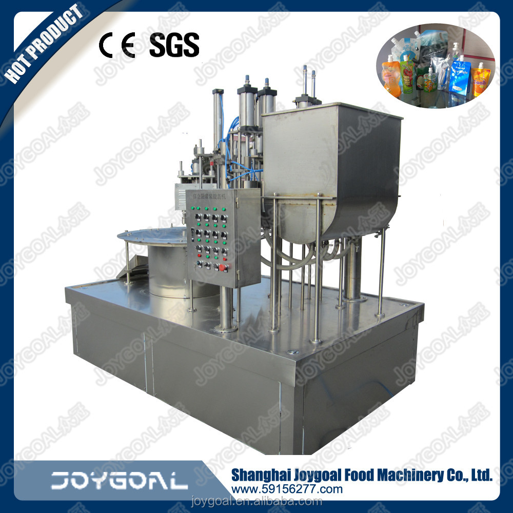 drinking water filling and sealing machine with spout pouch