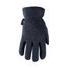 split deer skin polar fleece winter outdoor kids work gloves