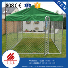 large outside metal dog kennel with A waterproof cover