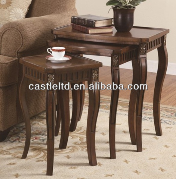 Nesting Tables 3 Piece Curved Leg Nesting Tables