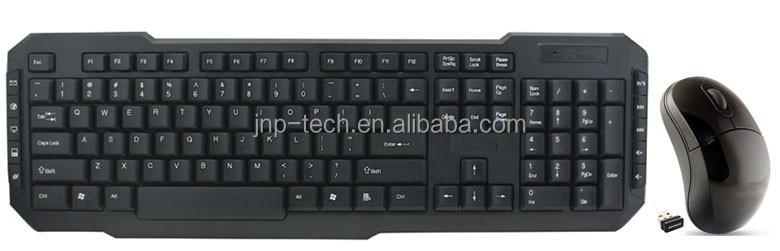 Compact RF 2.4G Multimedia Cordless Wireless Keyboard and Mouse Combo