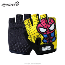 spider cartoon sport and bike cycling protecting gloves for child