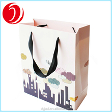 Customized Luxury Printed Recyclable Handle Shopping Kraft Paper Bag