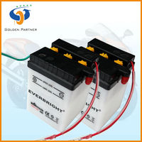 6N4-2A Dry charged Chinese Motorcycle Battery for Electric Start Generator