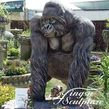Garden decoration cast bronze gorilla statues for sale
