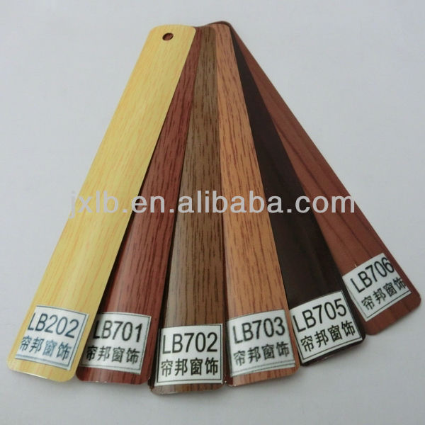 25mm Wood Grain Aluminum Slat for Venetian Blind