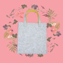ODM felt water bottle pocket tote bag logo silkprinting