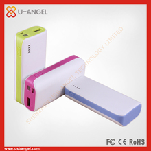 built-in high capacity 4400mAh lithium battery power bank white