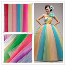 20D 100% nylon tulle fabric for wedding dress