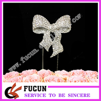 new design gifts & crafts bowknot cake topper crystal