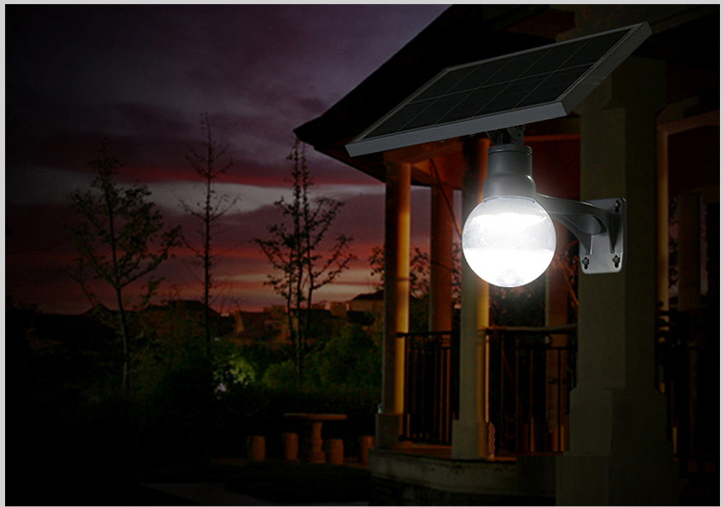 Modern outside solar battery powered 6w removable led garden wall lamp light
