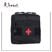 Medical First Aid Pouch Bag Black Compact Waterproof Tactical First Aid Bag with Big D Ring Tactical Pouches