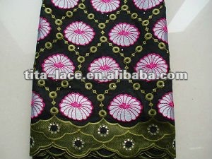Quality Thick Voile African Lace Fabric