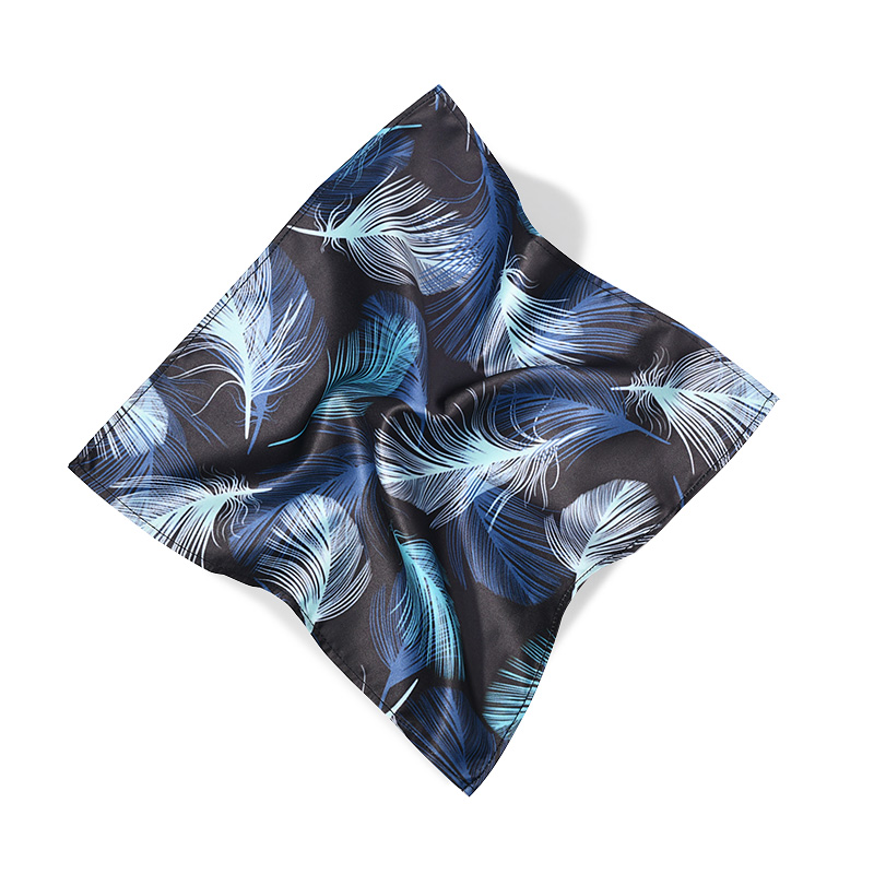 Hot Selling Suit Pocket Square Dandelion Pattern Colorful Polyester Satin Pocket Square For Man