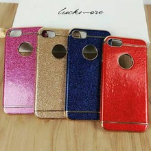 Hot sales electroplated TPU Sequins sticker full mobile case for iphone7plus