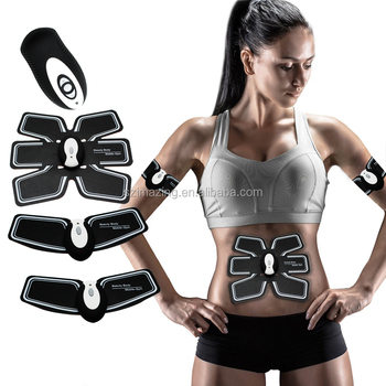 Factory Manufacturing Unisex Wireless Muscle Stimulation Body Toning System ABS FIT For Arm / Abdomen / Thight
